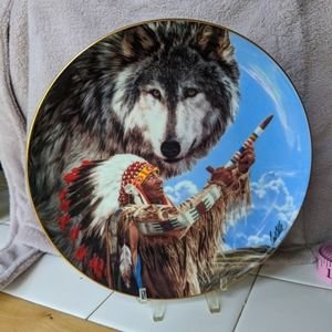 """Franklin Mint """"Summoning of the Wolf Spirit"""" Plate"""